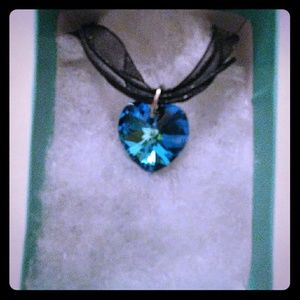 Jewelry - Hawaii Blue Crystal Heart Necklace